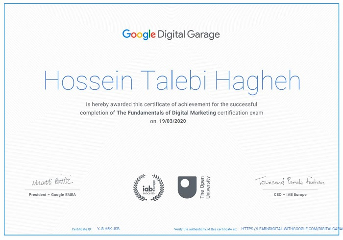 Google Digital Garage Certificate